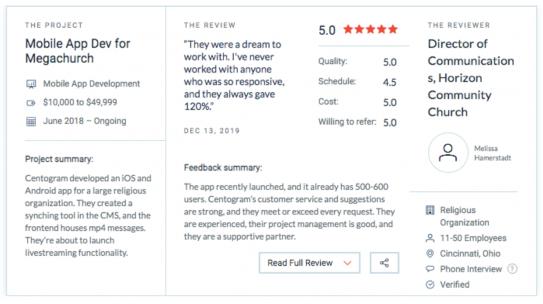 Centogram Provides 5 Star Customer Service